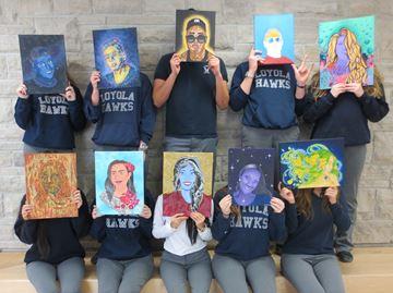 Loyola students' creativity on display Thursday night at Oakville art show