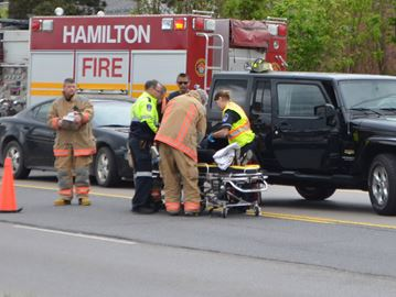 No injuries in two-vehicle collision in Waterdown
