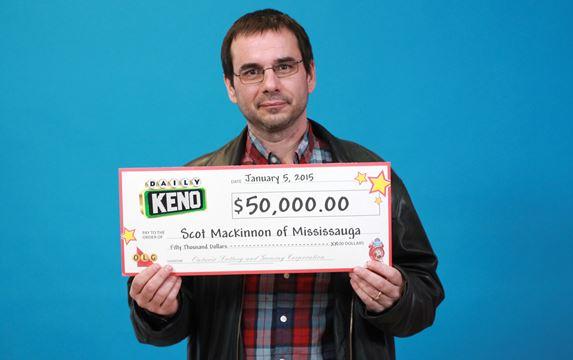 Weston man wins keno