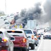 Van fire on Hwy. 401