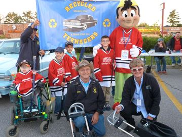 Recycled Teenagers support New Tecumseth sledge hockey program