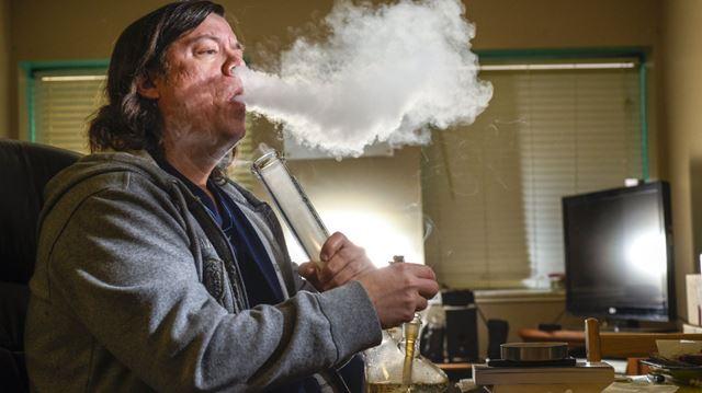 Cory Kaus smoking