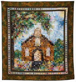 Mennonite Relief Sale's feature quilt, Little Brown Church, inspired by Hawkesville Mennonite Church