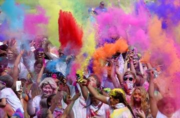 A Midsummer's Dream Colour Festival at Gage Park drew hundreds of participants.