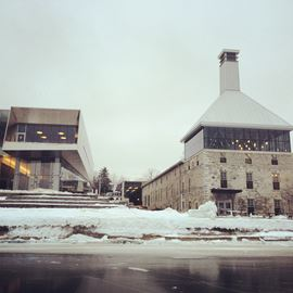 The Tett Centre (Right) and the Isabel Bader Centre