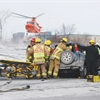 Driver airlifted to hospital following Oshawa crash