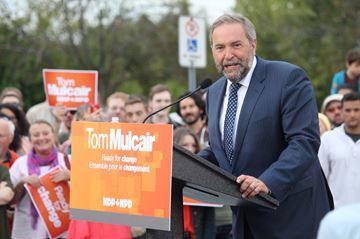 TOM MULCAIR NDP BRANTFORD RALLY