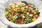 Lentil salad with asparagus and feta a healthy side dish