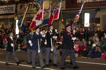 Members of the Royal Canadian Legion take part in the Brampton Board of Trade Santa Claus Parade.