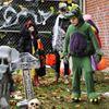 Kids Safety Village Halloween Mark graveyard