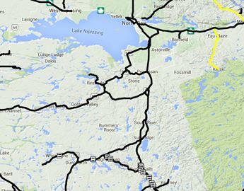 North Bay / Almaguin road conditions Nov. 25