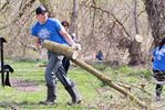 Alliston residents clean up the Boyne River