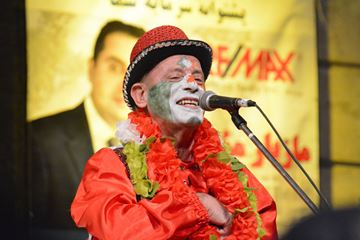 Neshat (Haji Firooz) performs during Iranian New Year celebrations in Mel Lastman Square on Tuesday.