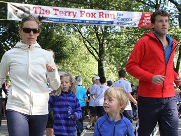 The sun shone on Oakville Terry Fox Run for a record year