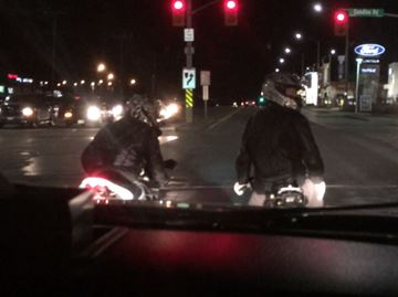 Motorcyclist arrested