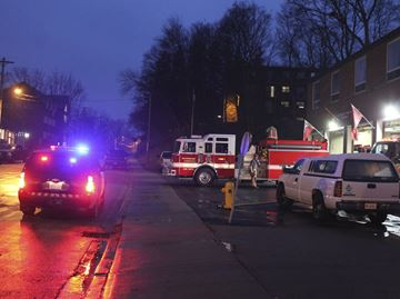 Collision in front of Caledonia fire station