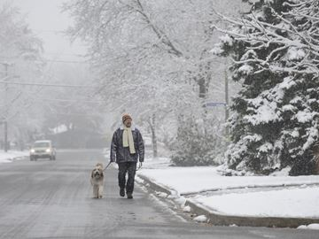 Burlington experiences its first taste of winter
