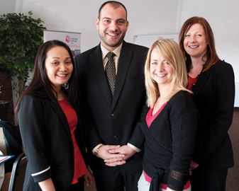 Mark Melloni will join staff at the United Way as campaign chair for the organization's 50th fundraising campaign in south Niagara. Pictured are, from left, Ad Lewis, Melloni, Deanna Pope and Tamara Coleman-Lawrie.