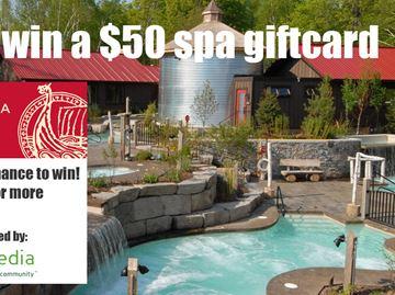 Enter to win a $50 Scandinave Spa Blue Mountain Gift Card