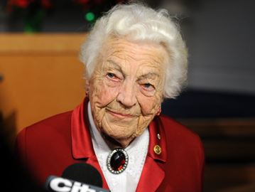 Former Mississauga mayor Hazel McCallion.
