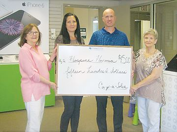 Compu-Solve makes donation to Hospice Huronia