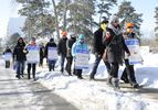 OPSEU holds a information picket line