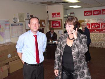 Former Hamilton Liberal MP Sheila Copps campaigns