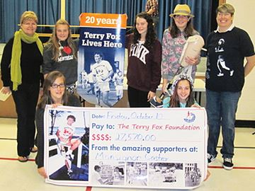 Terry Fox Foundation appreciates Midland school's longtime support