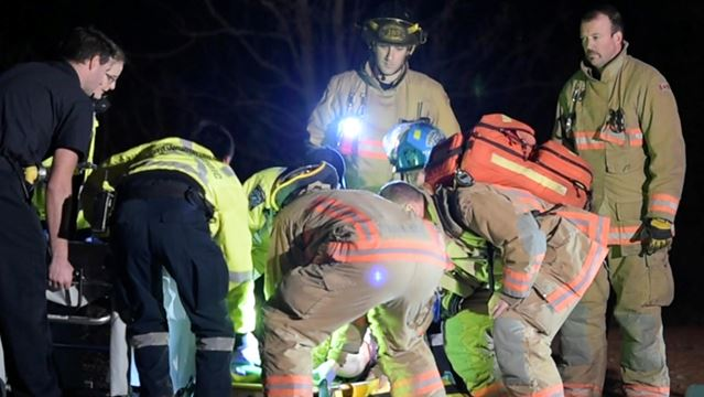 Injured cyclist rescued from forest
