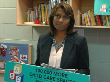 Five-year provincial investment will result in 100,000 new licensed child-care spaces, says Halton MPP