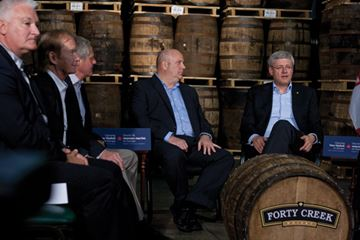 Harper meets with local business leaders