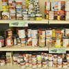 Food bank shelves