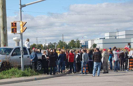 bolton residents protest canadian tire centre caledonenterprisecom