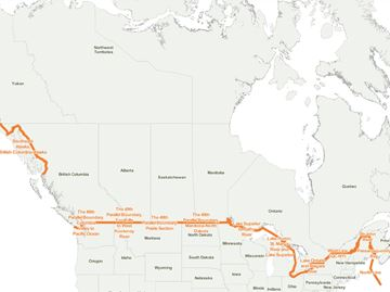 Canada/U.S. border