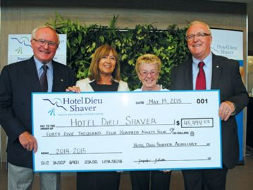 Shared 'passion and energy' supports Hotel Dieu Shaver