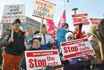 Midland, Penetanguishene residents protest hospital cuts