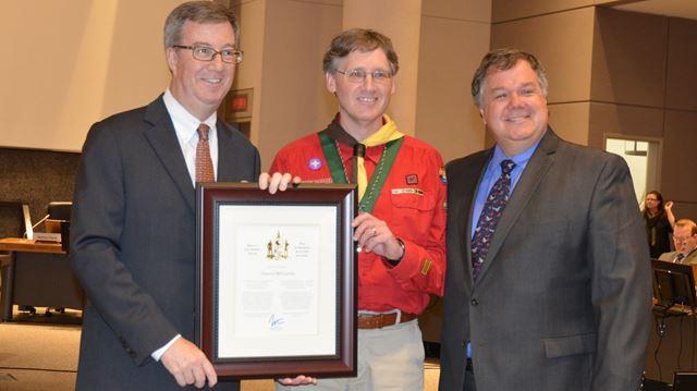 Longtime Elmvale Acres Scouting leader receives City Builder Award