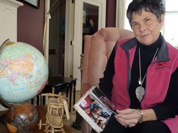 Evelyn Picketts, pictured inside her home, was named Brant's 2014 Woman of Excellence during an International Women's Day event at the Best Western Brant Park Inn on Wednesday.
