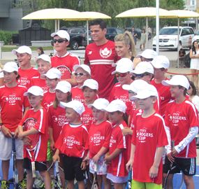 Raonic, Bouchard at Mini Rogers Cup