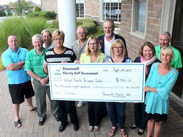 Stonecroft cheque to WFRC