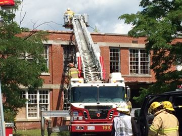 Port Hope old file factory fire