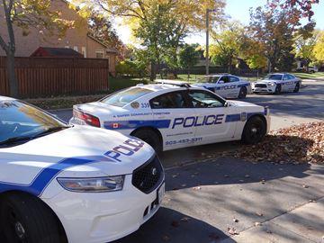 Peel Police on scene