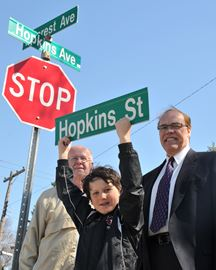 Hopkins Avenue Street Sign