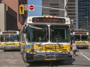 HSR bus struck pedestrian