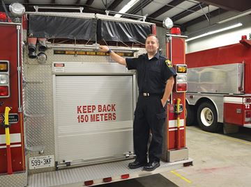 Tiny Township man lives out childhood dream as volunteer firefighter