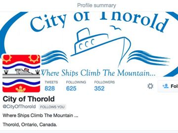 Twitter account not City of Thorold's