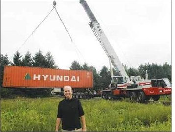 Shipping containers adding to fright factor at Saunders Farm– Image 1