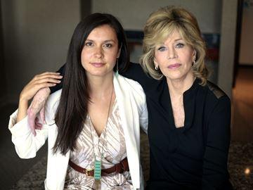 Melina Laboucan-Massimo and Jane Fonda