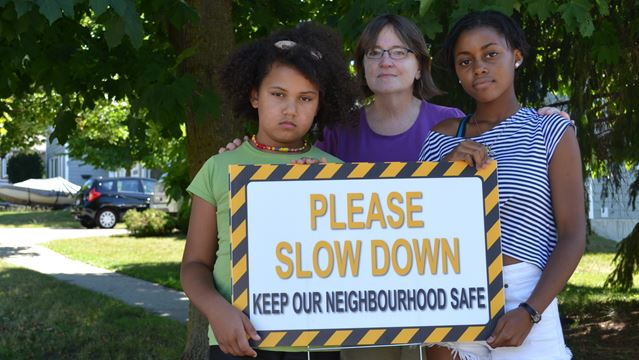 Barrie residents waiting for speed bumps take safety into own hands
