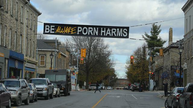 Porn harm banner